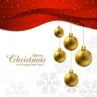 Joyeux Noël avec un fond ondulé rouge