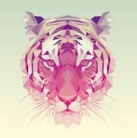 Conception graphique polygonale de tigre. vecteur
