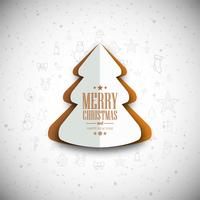Fond d'arbre joyeux Noël moderne vecteur