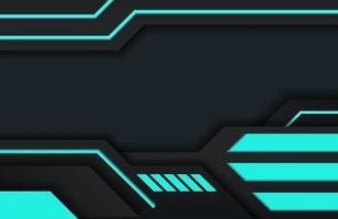 conception de texture moderne abstraite de fond tech minimal noir et bleu foncé. fond de concept d'innovation technologique moderne futuriste vecteur
