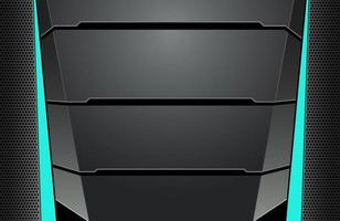 texture d'arrière-plan moderne abstraite de fond tech minimal noir et bleu foncé. concept d'innovation technologique de conception vecteur