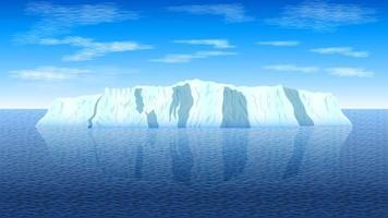paysage d'iceberg arctique vecteur
