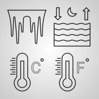 ensemble d'icônes météo vector illustration isolé sur fond blanc