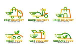 modèle de logo de livraison vecteur