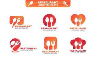 modèle de logo de nourriture vecteur