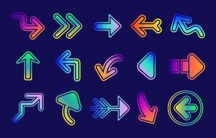 icône de flèche colorée vecteur