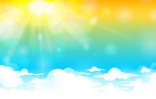 modèle de fond de ciel et de soleil vecteur