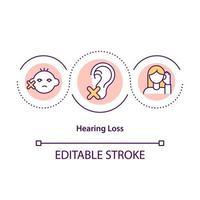 icône de concept de perte auditive vecteur