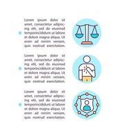 icônes de ligne de concept de valeurs d'entreprise avec du texte vecteur