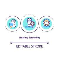 icône de concept de dépistage auditif vecteur