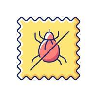 icône de couleur plate vecteur qualité textile résistant aux acariens