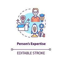 icône de concept d'expertise de personne vecteur