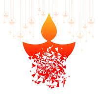 Joyeux diwali célébration fond décoratif