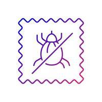 icône de vecteur linéaire dégradé de qualité textile résistant aux acariens