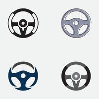 volant de voiture logo illustration vecteur