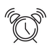 icône d'alerte réveil attention danger point d'exclamation conception de style de ligne de précaution vecteur