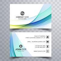 Modèle de carte de visite coloré abstrait vague élégante