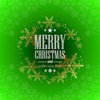 Belle conception de carte de voeux joyeux Noël vecteur