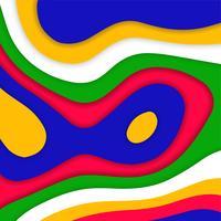Papercut coloré abstrait moderne