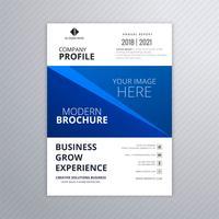 Conception de modèle de brochure business bleu abstrait