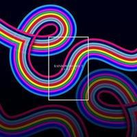 forme de lettre e arc-en-ciel ondulation vecteur