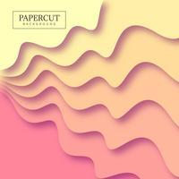 Rayures abstraites papercut coloré illustration de fond vecteur
