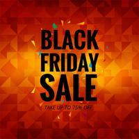 Fond de vecteur affiche coloré vente vendredi noir