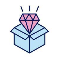 urne de don avec ligne de solidarité en diamant et style de remplissage vecteur