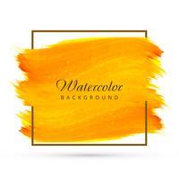 Vecteur de fond abstrait pinceau aquarelle jaune