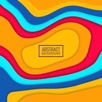 Abstrait papercut coloré brillant