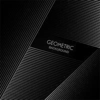 Forme élégante de lignes géométriques sur un vecteur de fond noir
