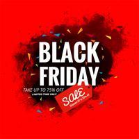 Illustration de fond belle affiche de vente vendredi noir
