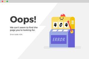 Erreur 404 page Web indisponible. Concept de fichier non trouvé