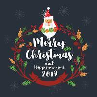 Joyeux Noël, conception de cartes de voeux. Illustration vectorielle