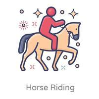 conception d'équitation vecteur