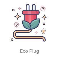 conception de prise écologique vecteur