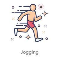 conception moderne de course de marathon vecteur