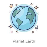 modèle sphérique de globe terrestre de la planète vecteur
