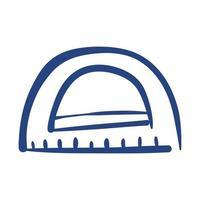 icône de style de forme libre de fournitures scolaires de règle d'angles vecteur