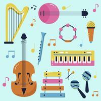 Vecteur de matériel de musique