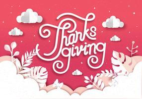 Papercraft Thanksgiving Vol 2 Vecteur