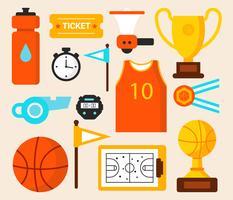 Vecteur d'équipement de basket-ball