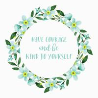 Vector Be Kind Couronne florale
