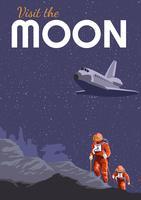 Affiche de voyage Experience Moon vecteur