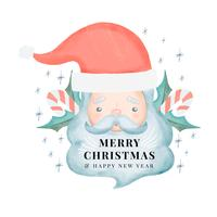 Personnage mignon du père Noël avec texte vecteur