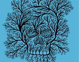 Crâne de branche d'arbre vecteur