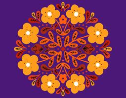 badge circulaire floral