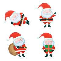 Jolie collection de personnages du père Noël vecteur