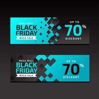 Black Black Sale Banners Modèle bleu vecteur