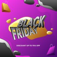 Black Friday Discount sur les médias sociaux Post Vector